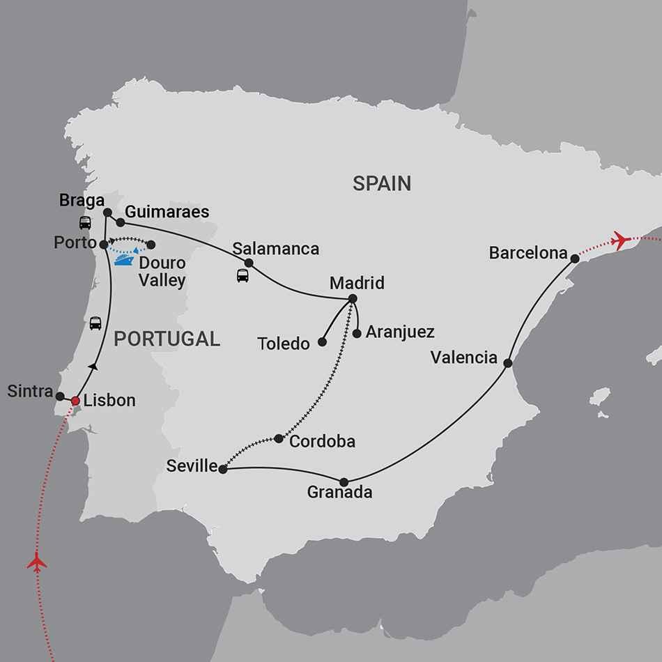 Portugal Spain Map 0304