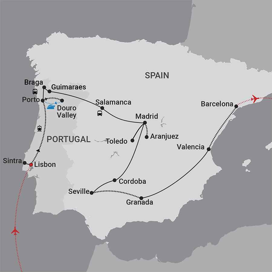 Portugal Spain Map