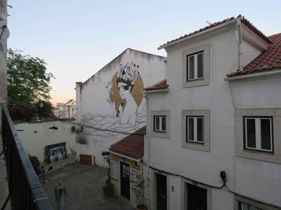 Wall mural, Lisbon