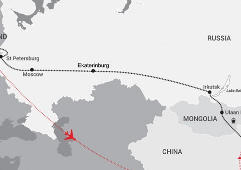 44860 Travel Driectors - New Maps - Legendary Trans siberian 112
