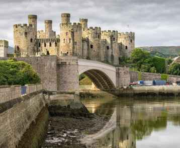 Conwy Castle is a medieval fortification in Conwy, on the north