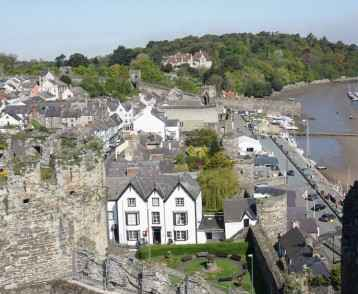 Blick auf Conwy, Wales
