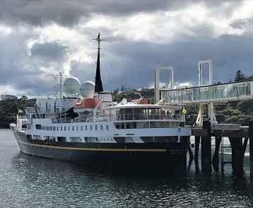 MV Serenissima in dock