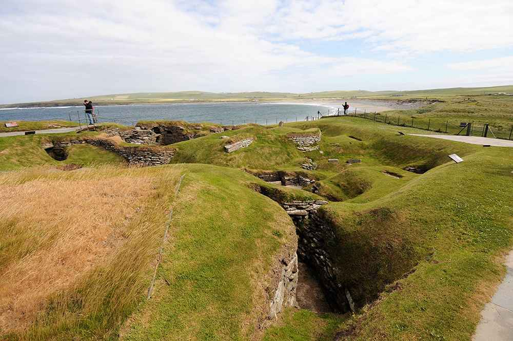 Skara Brae ancient stone buildings, Orkney Islands