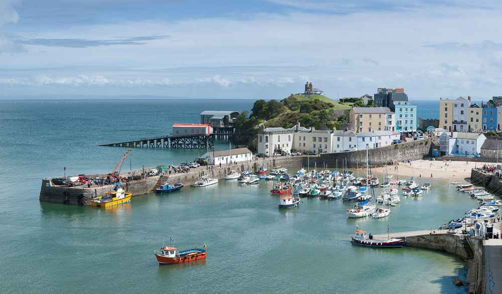 Tenby Harbour, Wales UK