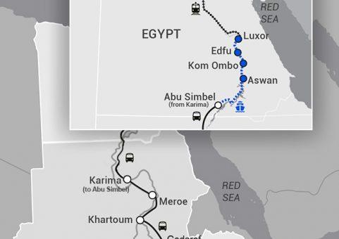 Ethiopia-Sudan-Egypt Map