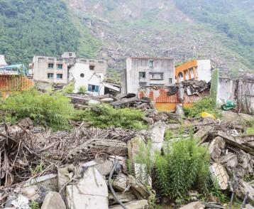 earthquake  house after May 12,2008  at beichuan,mianyang,china