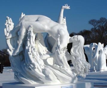Snow sculpture-Sun Island