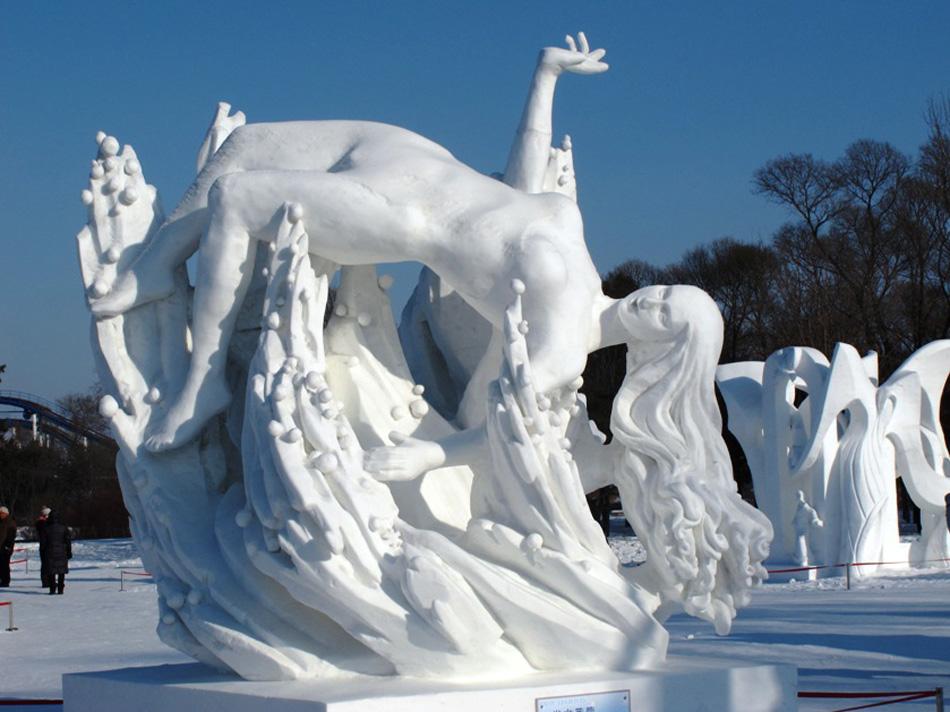 Snow sculpture-Sun Island