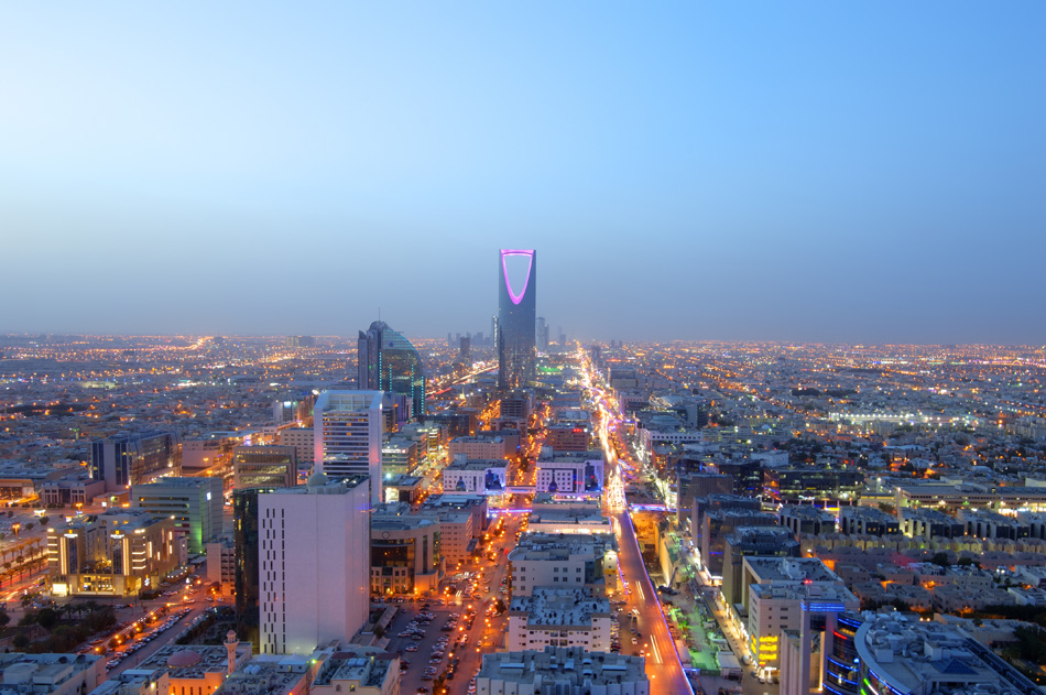 Riyadh Skyline Night View