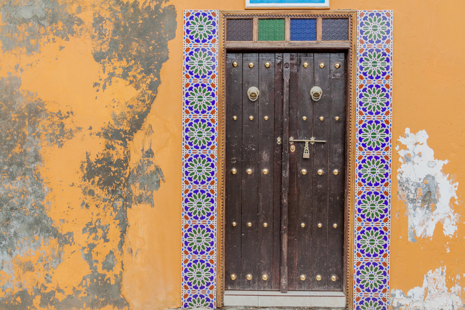 Old colorful door in Muharraq, Bahrain