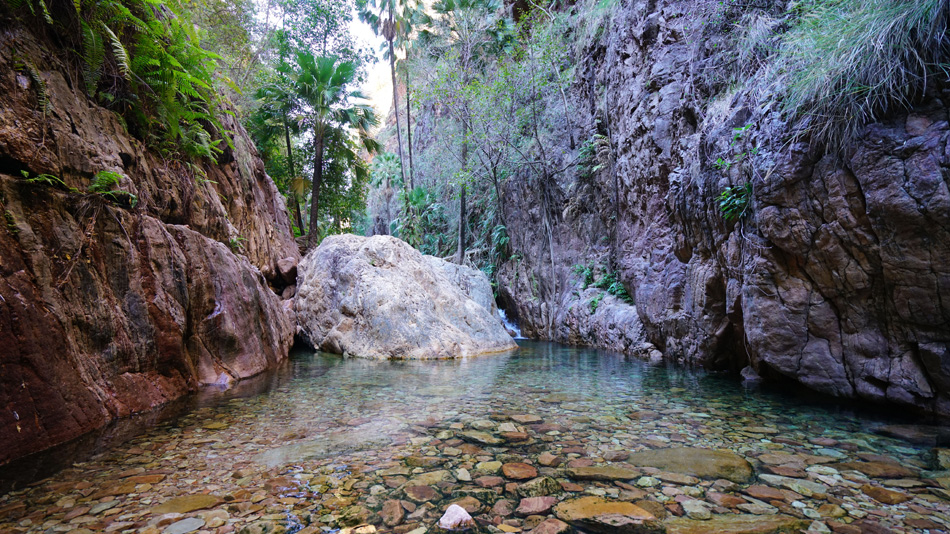 Kimberley Region, Western Australia - El Questro Gorge view of h