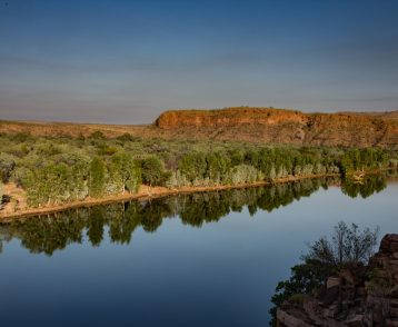 Still water and reflections in a gorge in the Kimberley, Western