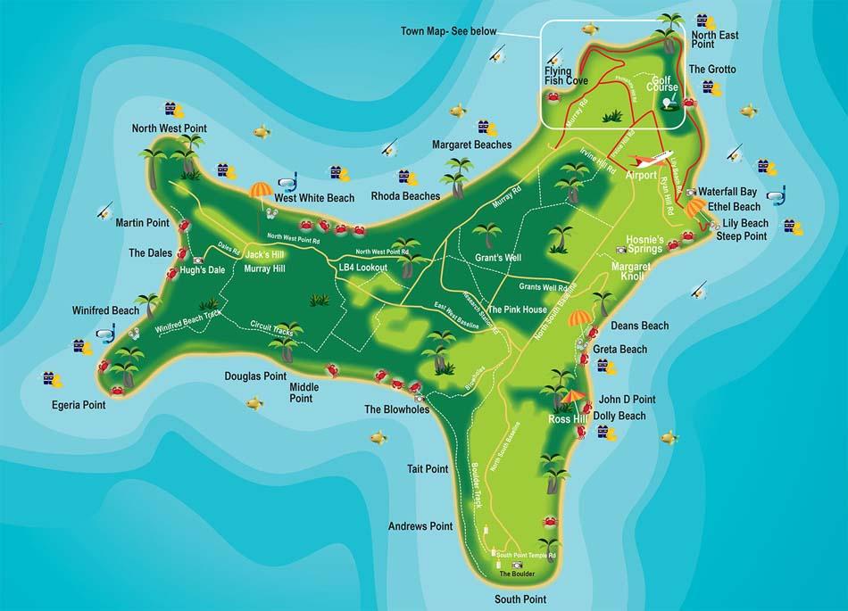 Christmas Island Map 2016