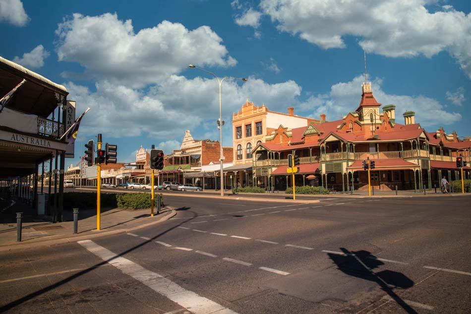 Main street at Kalgoorlie - Boulder, Western Australia