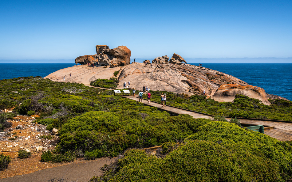 Remarkable rocks panorama view on Kangaroo island in Australia
