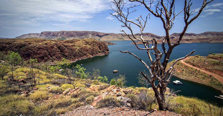 Large Freshwater Lake at the Outback – Western Australia
