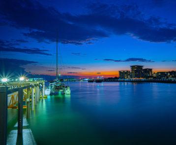 sunset at Darwins wharf/marina