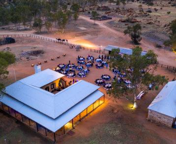 Dinner under the stars at Alice Springs